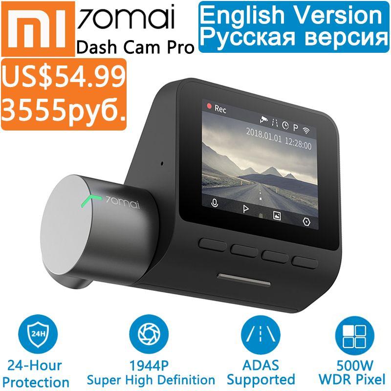 Xiaomi 70mai Pro Dash Cam Full HD 1944P Car Camera Recorder GPS ADAS 70 Mai Wifi Dvr Car 24H Parking Monitor 140FOV Night Vision