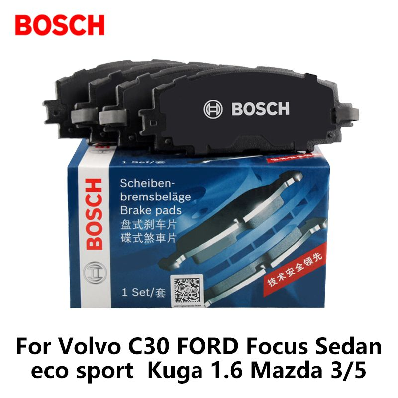 4pieces/set Bosch Car Brake Pads Front For Volvo C30 ForD Focus Sedan eco sport Kuga 1.6 Mazda 3/5 0986ab1187
