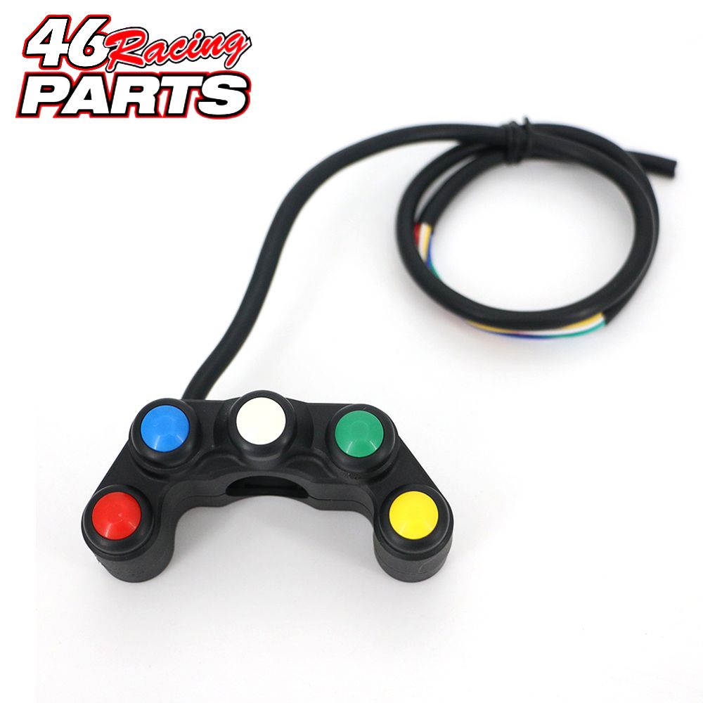 5 button Motorcycle switch/switches button 7/8 22mm handlebar /lights /on-off button waterproof