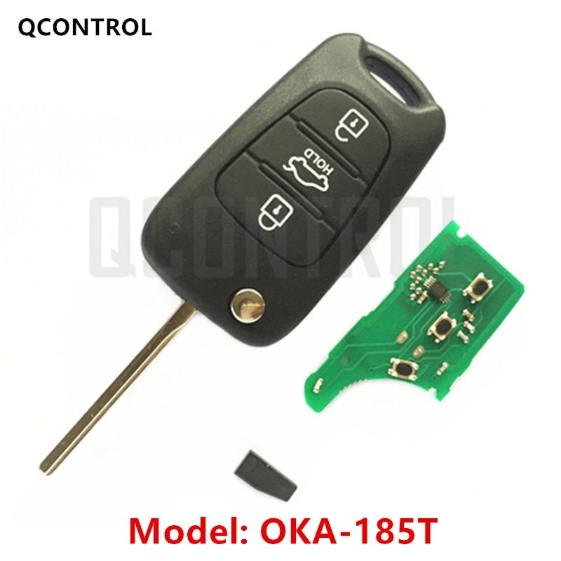 QCONTROL Car Remote Key Suit for HYUNDAI CE0682 OKA-185T Auto 433MHz Transmitter ASSY 433-EU-TP