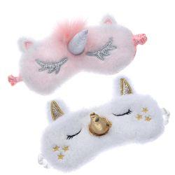 Unicorn Lucu Tidur Mata Topeng Kartun Penutup Mata Penutup Mata Bayangan Soft Cover untuk Gadis Anak Remaja Bepergian Tidur Pelindung Mata Mata bantuan