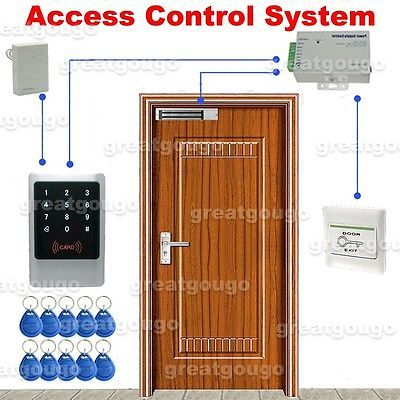 Waterproof Touch Keypad & ID Reader Door Access Control System Lock Power Supply