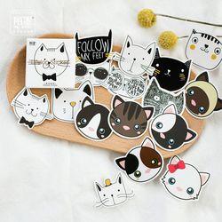 45 pcs/lot mignon Chat Tête mini papier autocollant décoration BRICOLAGE album journal scrapbooking étiquette autocollant kawaii papeterie