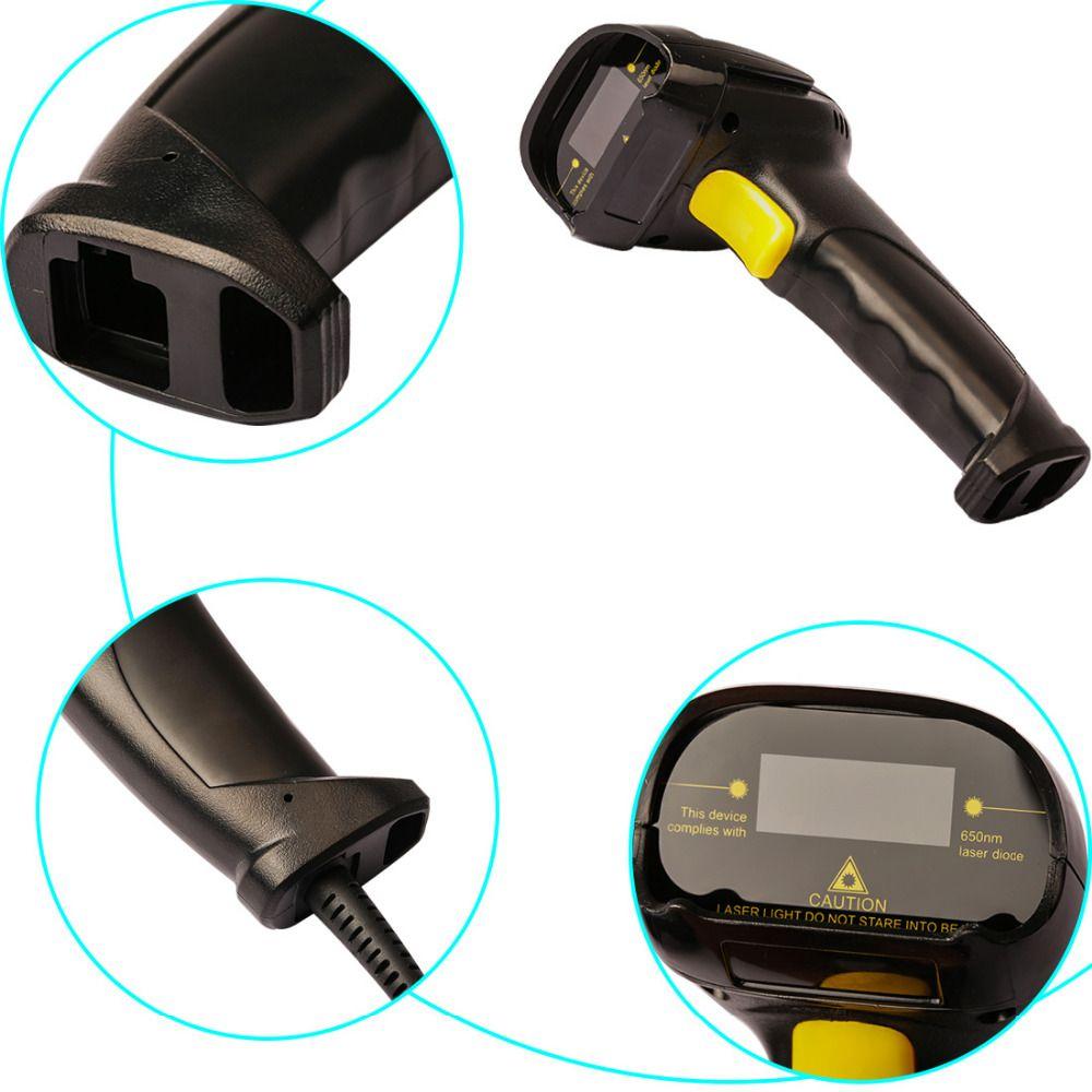 NOYOKERE Hohe Leistung bidirektionale Usb-kabel Laser Barcode-scanner Handheld Barcode-scanning Gun für Bar Supermarkt Shop
