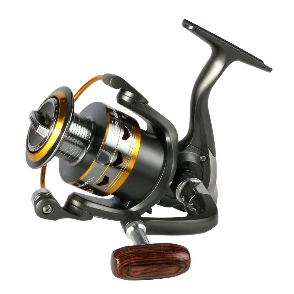 2017 hot metal Fishing Reel 11BB 2000 - 6000 series spinning reel for feeder fishing Wood handle fishing reels pesca