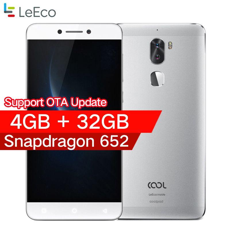 D'origine leeco cool 1 Coolpad letv cool1 4G LTE Mobile téléphone Octa base Android 6.0 5.5 FHD 3G/4G 32G Double Caméras Arrière
