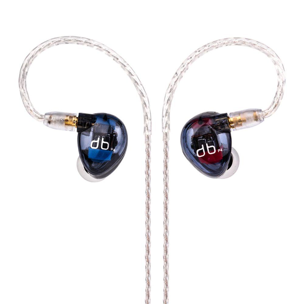 Wooeasy AUDBOS P4 In Ohr Kopfhörer 4BA Antriebseinheit 4 Balanced armature-3 HIFI In Ear Monitoring Kopfhörer Mit Abnehmbaren MMCX kabel