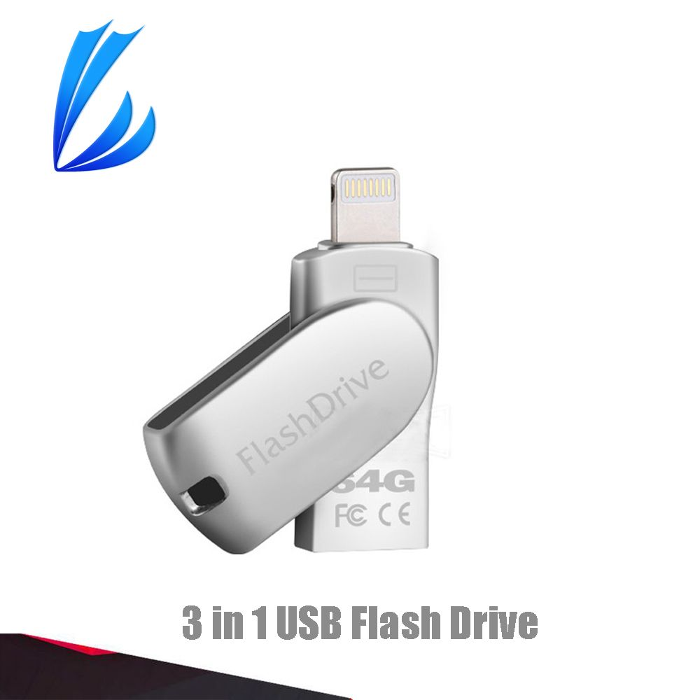 LL TRADER 32/64G Flash Drive Storage Memory Stick OTG Usb Flash 2.0 For iOS iPhone 7/iPhone 6/iPad Mini/iPad Air/Android /PC