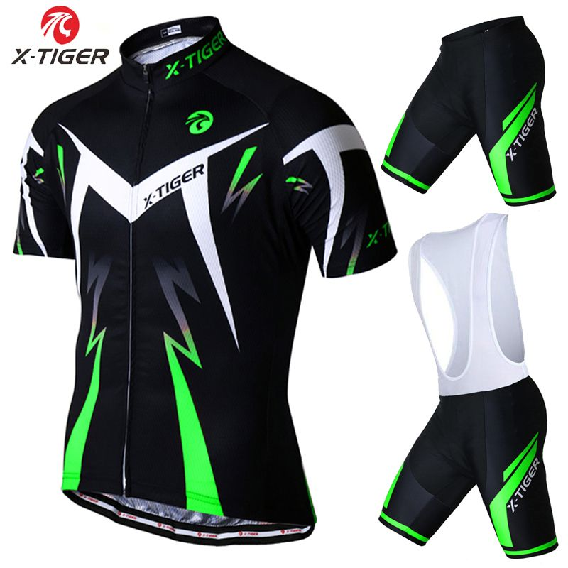 X-Tiger 2017 Summer Short Sleeve Cycling Set Mountain <font><b>Bike</b></font> Clothing Breathable Bicycle Jerseys Clothes Maillot Ropa Ciclismo