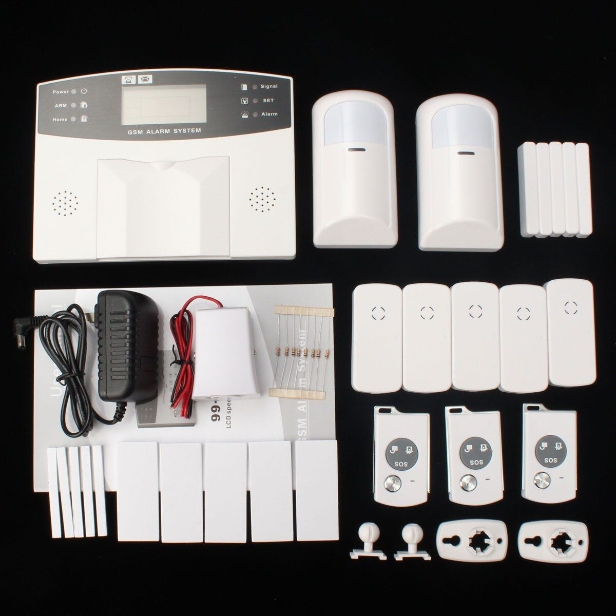 NEW GSM 108 Zones Wireless & Wired Voice Home Alarm Security System LCD Auto Dialer GSM Alarm System YA-500-GSM-21