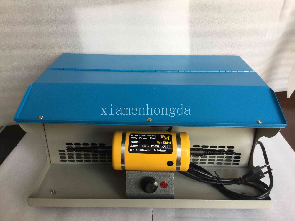 FREE SHIPPING Polishing motor with Dust Collector,mini bench lathe,jewelry table polisher