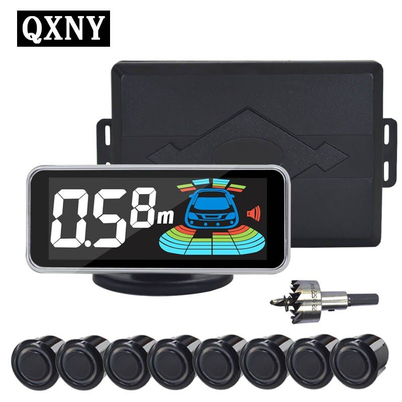 QXNY 8 sensors Car Parking Sensor Automobile Reversing Radar parking car detector parking assistance  parking radar Reverse