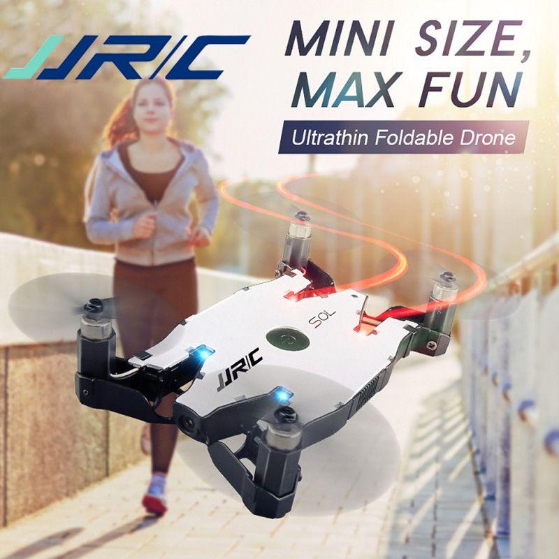 Drone de SOL ultra-mince Wifi FPV Selfie Drone JJR/C JJRC H49 RC 720 P caméra bras pliable automatique maintien d'altitude RC quadrirotor VS H37 H47