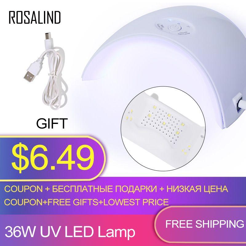 ROSALIND 36 watt Nagel Trockner UV LED Lampe Nagellack Trockner Doppel Power lampe Schnell Geheilt für Maschine Maniküre Mit USB Nail art Werkzeuge
