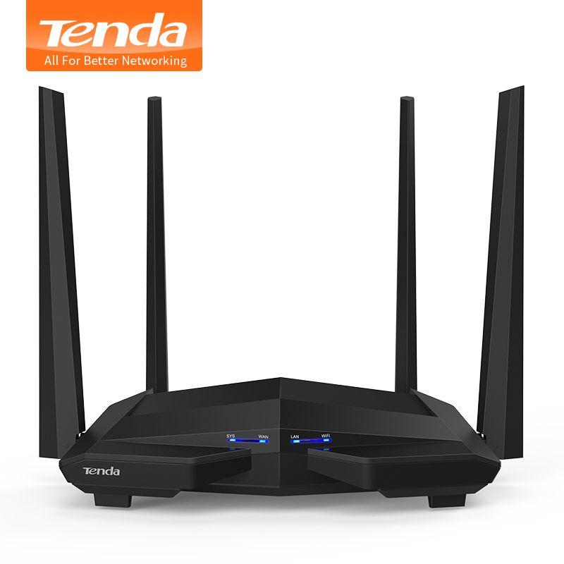 Tenda AC10 1200 Mbps Drahtlose 2,4G + 5G WiFi Router 1 GHz CPU + 128 Mt DDR3 Gigabit Ports 4 * 5dBi High Gain-antennen, Smart APP Verwalten