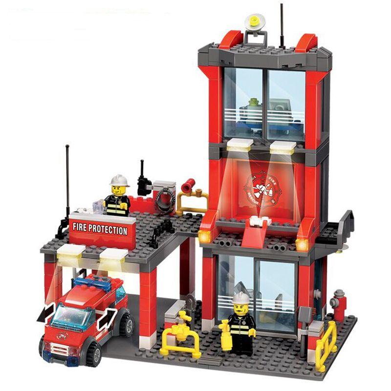 300 pcs/ensemble Kazi 8052 Poste D'incendie Briques de Construction Blocs Jouets Éducatifs BRICOLAGE Compatible LegoINGly Ville Sauvetage Pompier