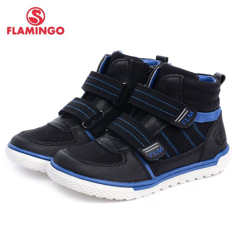 Фламинго Новинка 2017 коллекции осень/зима модные кожаные детские сапоги Высокое качество против скольжения детская обувь для мальчиков w6xy131