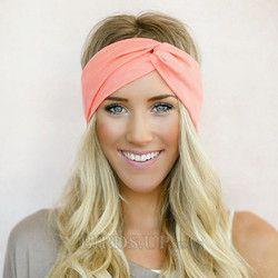 Twist Turban Stirnband für Frauen Bögen Elastische Sport Haarbänder Kopf Band Yoga Stirnbänder Headwear Headwrap Mädchen Haar Zubehör