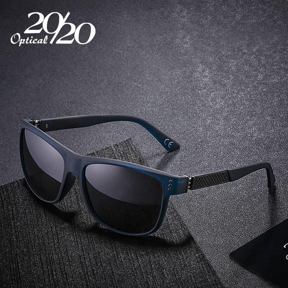 20/20 New Classic Polarized Sunglasses Men Driving <font><b>Carbon</b></font> Fiber Frame Eyewear Male Sun Glasses for men Oculos 4 Colors PL293