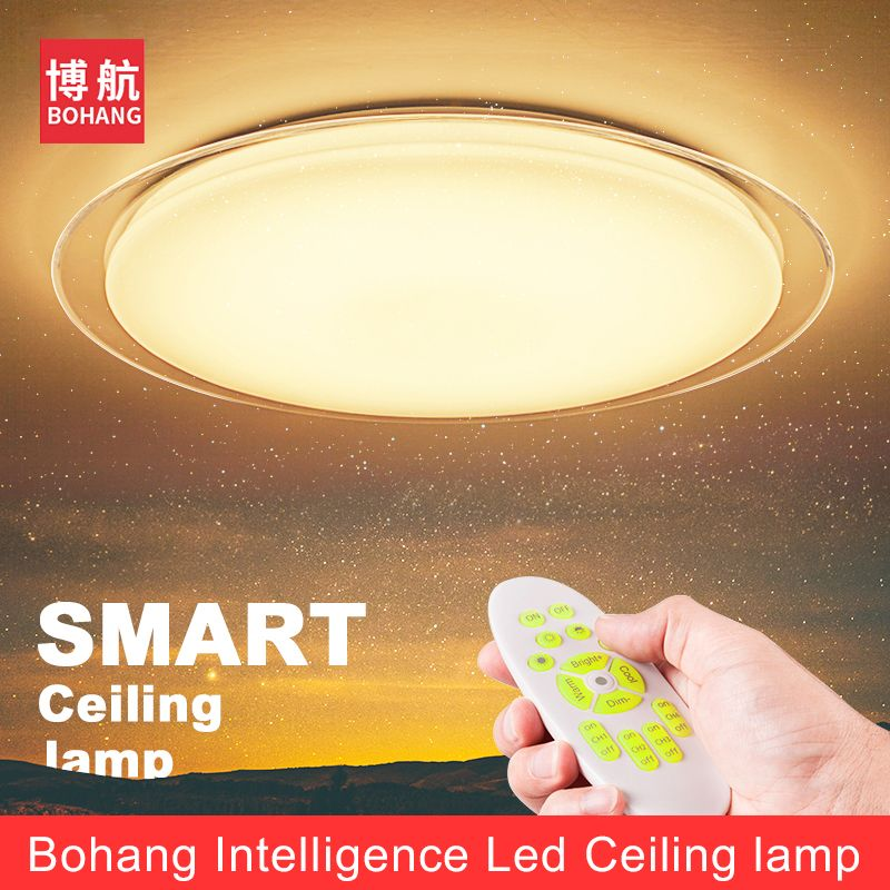 Modern Smart Remote Control Eye-protective LED Ceiling Lamp 2.4G RF Remote Dimming Home Bedroom Living Room Ceiling Lights Fixtu