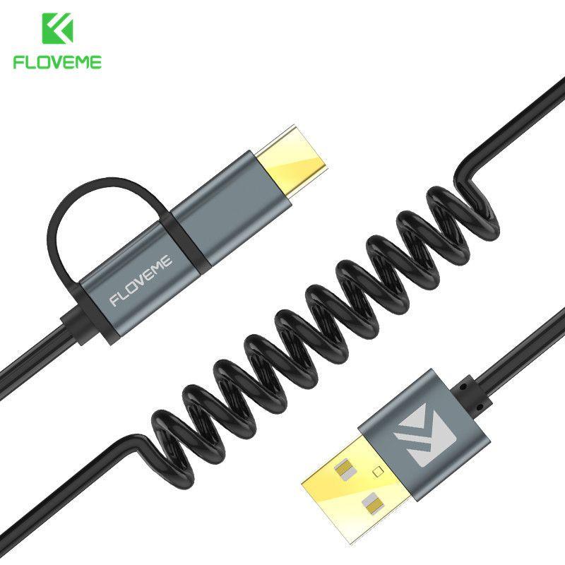 FLOVEME 2 in 1 Micro Usb-kabel Typ C QC 3,0 USB-C kabel Schnelle Ladegerät Für Samsung Galaxy S8 Xiaomi 4X Android Handy Cabo