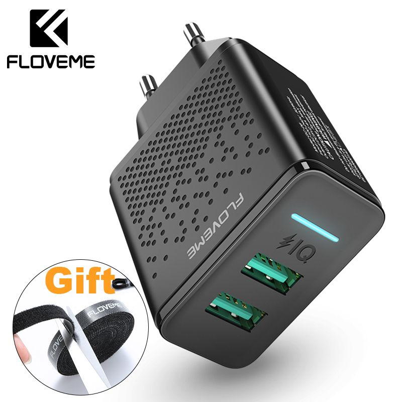 FLOVEME USB Charger For iPhone X XR XS MAX Mobile Phone Wall Charger Charging Adapter For Samsung Xiaomi Cargador Carregador USB