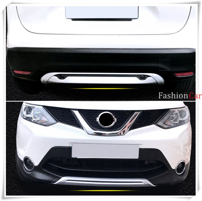 ABS Car Front and rear bumper skid protector guard plate fit for Nissan Qashqai/Dualis J11 2014 2015 2016