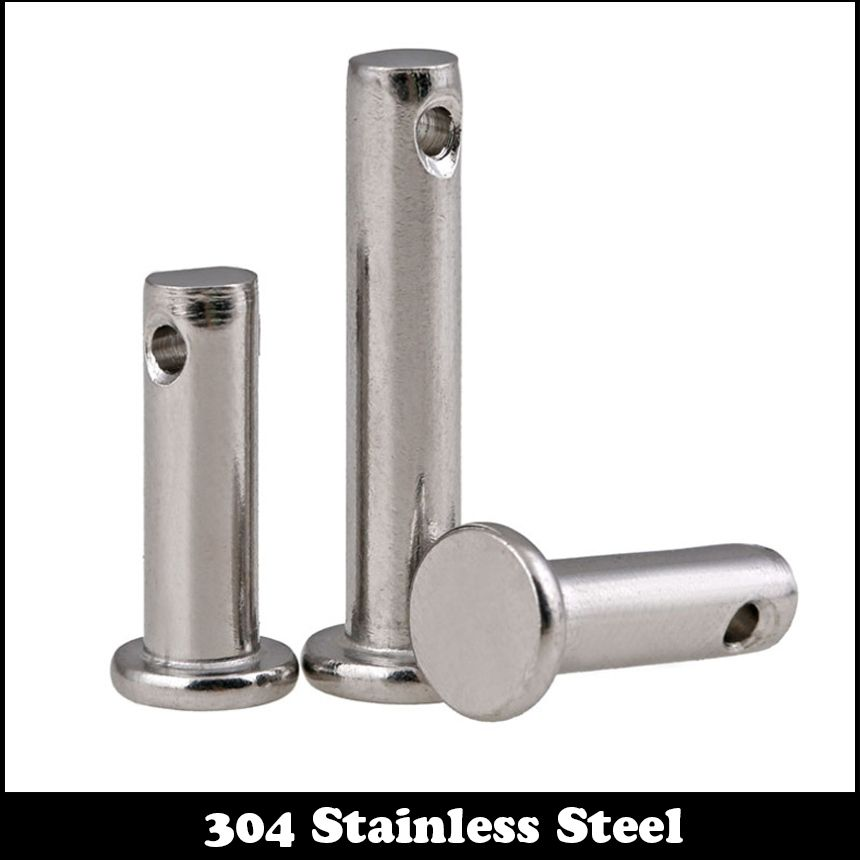 M5 M5*12 M5x12 M5*16 M5x16 M5*20 M5x20 304 Stainless Steel DIN1444 Flat Head Cylindrical Round Dowel Hole Clevis Pin With Head