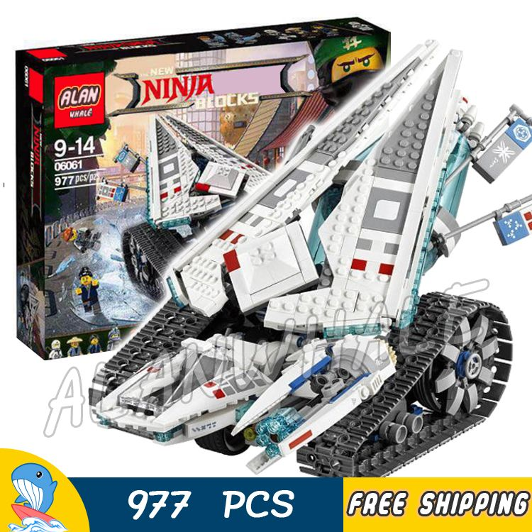 977pcs New Ninja Ice Tank Battle Machine Mech Walker Chariot 10726 Model Building Blocks Assemble Toy Brick Compatible With lego
