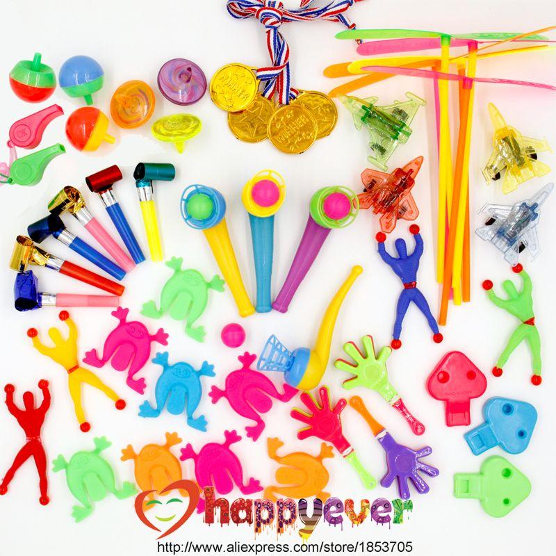 50 pcs Enfants Fête D'anniversaire Favorise Charge Pinata Cadeau Jouets Goodie Bag Jouets Prix de Carnaval Parti Jouets pour Garçons et filles