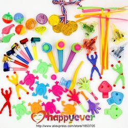 Nueva 50 unids Juguetes para niños Recuerdos de una fiesta suministros fiesta de cumpleaños del muchacho de la muchacha regalo Juguetes Bolsas pinata rellenos niños carnaval premios