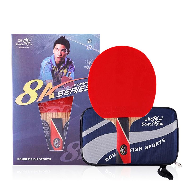 Double fish 8 stars 8A table tennis rackets racquet paddle dual carbon fiber 7 Ply blade fast attack loop for near break type