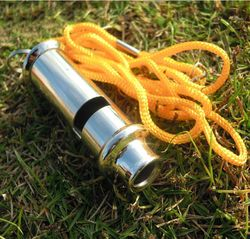 Stainless steel high-frequency high decibel whistle lifesaving metal outdoor survival whistle