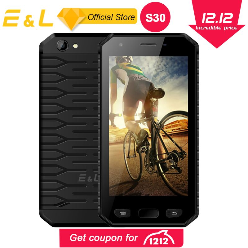 E&L S30 4G Mobile Phone 4.7 Inch IPS HD MTK6737 Quad-Core 2GB+16GB Cell Phones IP68 Waterproof Fingerprint Smartphone Android