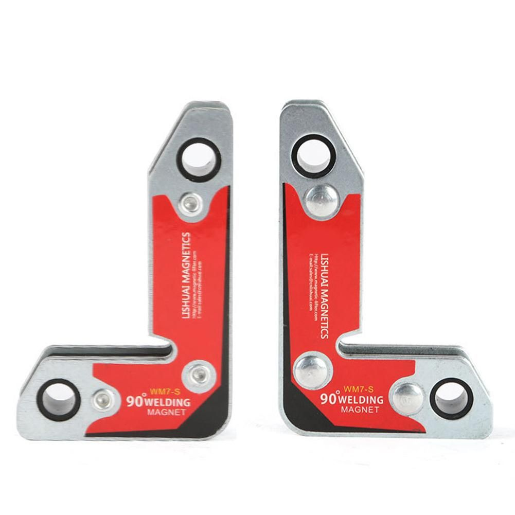 2pcs/set WM7-S Magnetic Holder/Corner Welding Magnets / Internal And External Right Angle Fixator 30 60 90 Angles Magnetic Clamp