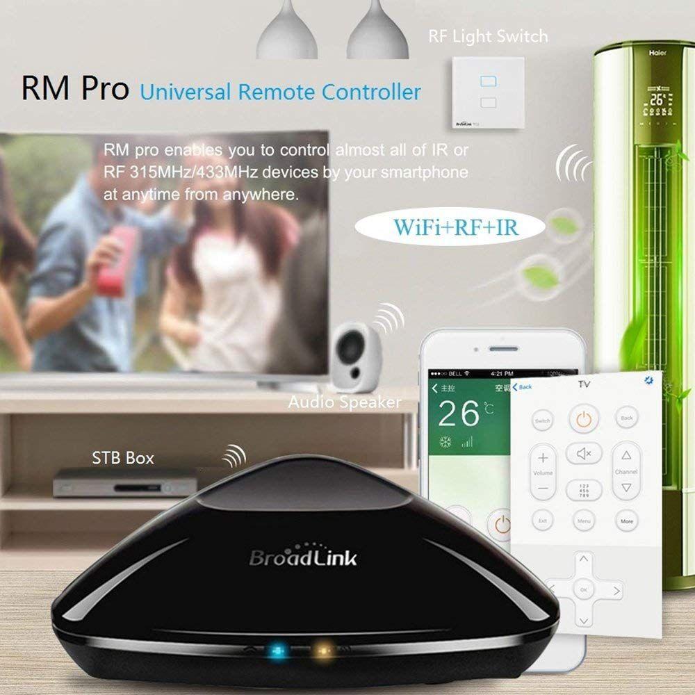 Broadlink 2018 nouveau RM33 RM Pro + WiFi IR RF Smart Home Hub, Alexa Echo Google Home Mini IFTTT commande vocale WiFi télécommande universelle