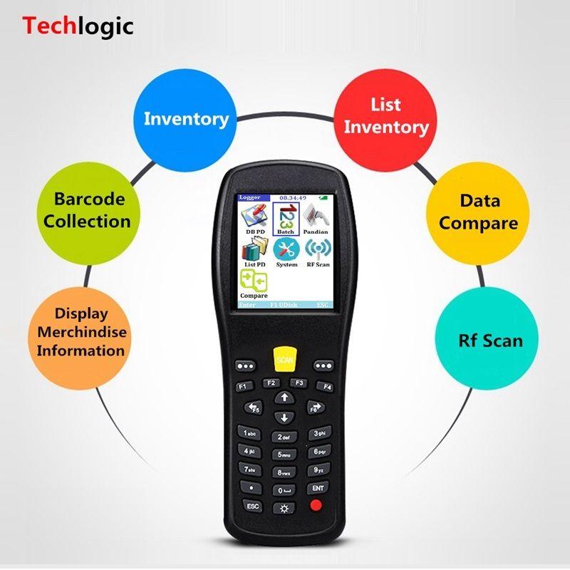 Techlogic X5 Barcode Scanner Wireless Laser Handheld Terminal PDA Warehouse Supermarket Inventory Display Product Information