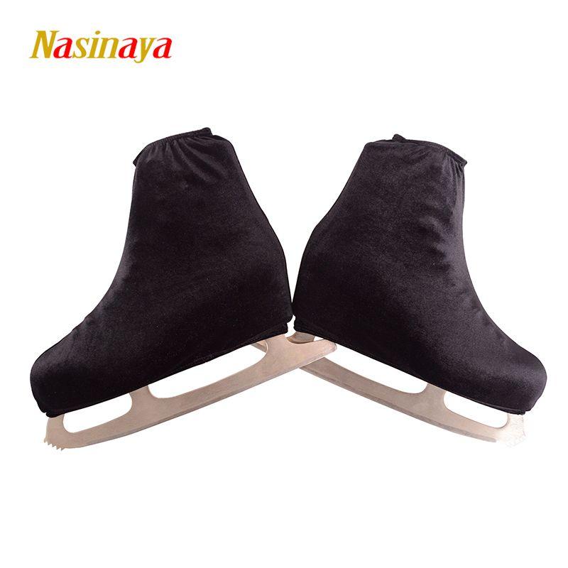 24 couleurs enfant adulte velours patinage sur glace chaussures de patinage artistique couverture de lame solide Rollar Skate chaussures accessoires athlétique