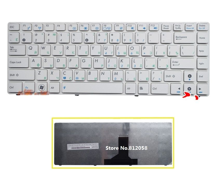 SSEA New Russian Keyboard white for ASUS X43 A42 K42 K42J A42J X42J UL30 N42 N43 B43 U41 K43S U35J UL80 laptop RU Keyboard