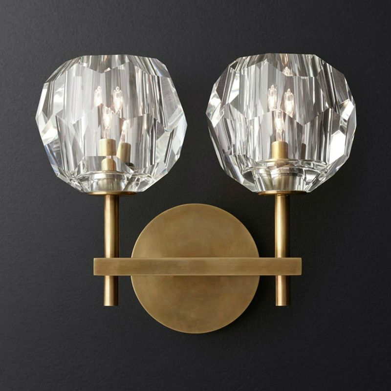 Livewin Wall Lamp Crystal Wall Sconce Luxurious Luminaire Loft Wandlamp Led Wall Lights BedRoom Iron Applique Lamparas Fixtures