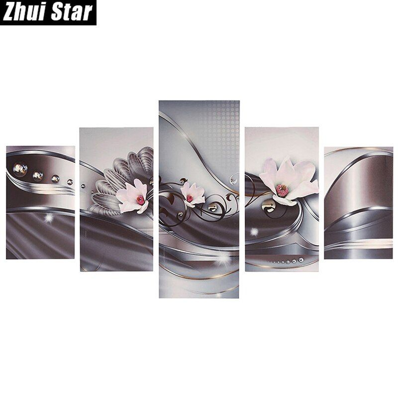 Zhui Star 5D DIY Full Square Diamond Painting pink flower Multi-picture <font><b>Combination</b></font> Embroidery Cross Stitch Mosaic Decor