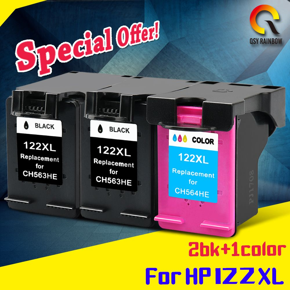 1set+1bk compatible for HP122 122xl ink cartridge for HP Deskjet 1000 1050 2000 2050 2050s 3000 3050A 3052A 3054 1010 1510 2540