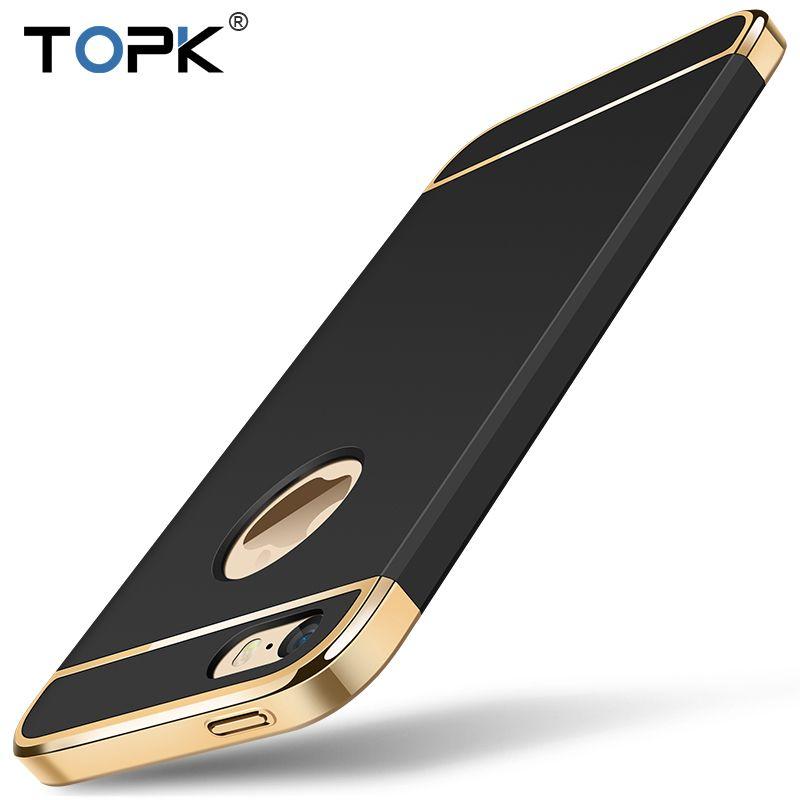 Für iPhone 5 5 s SE, TOPK Mode Stoßfest Antiklopf Textur hautfreundlich Handy Abdeckung Fall für iPhone 5 s 5 SE