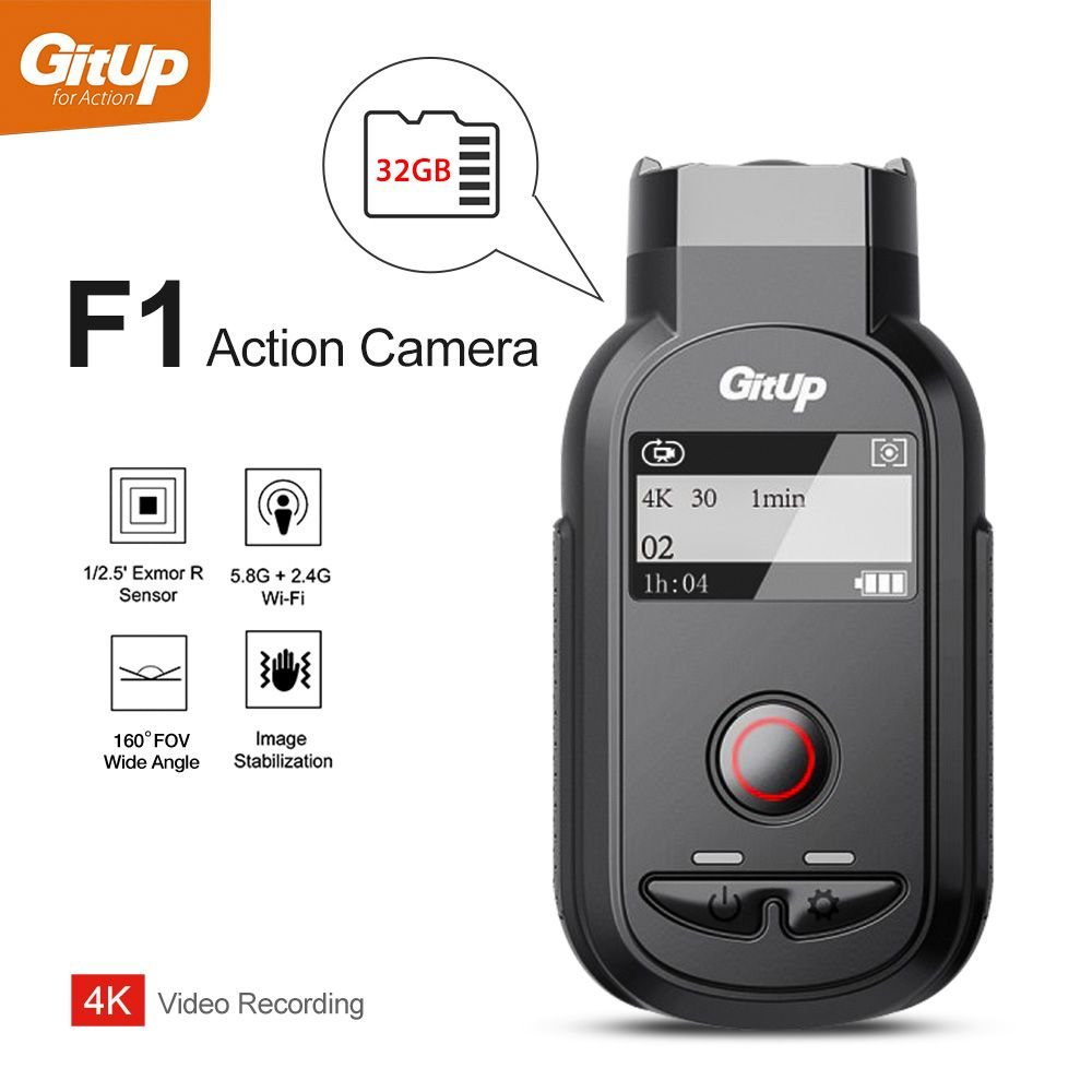 GitUp F1 WiFi 4K 3840x2160p Sport Action Camera Ultra HD Time Lapse Outdoor Road Cycling Camcorder Loop Recorder