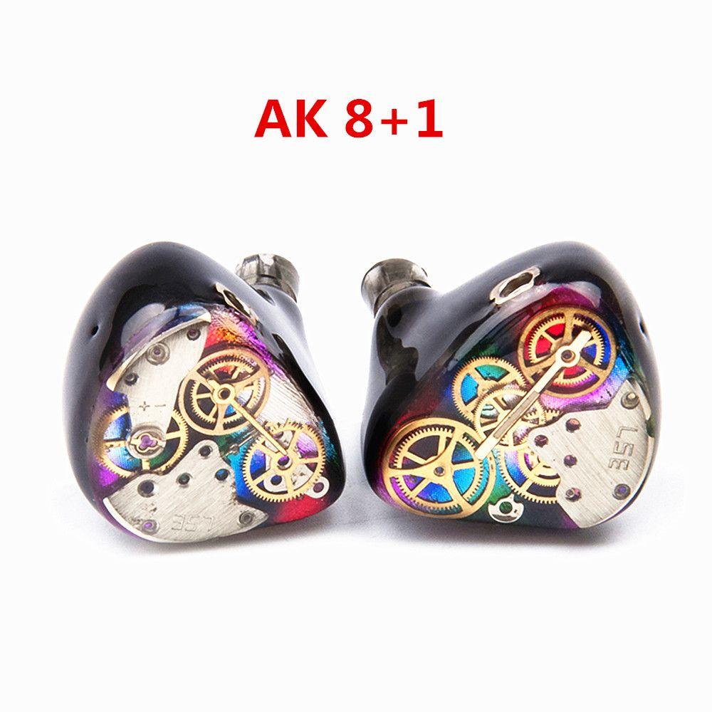 Neue AK 8BA + 1DD Nach Maß In Ohr Kopfhörer Hybrid Einheiten DIY HiFi Around Ear Überwachung Kopfhörer Mit MMCX stecker