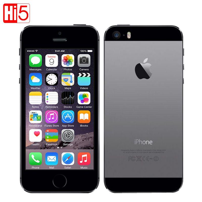 Apple iPhone 5S A1457 mobile téléphones Débloqué iOS tactile ID 4.0 16g/32g ROM Dual core WiFi GPS 8MP Caméra 3g LTE D'empreintes Digitales