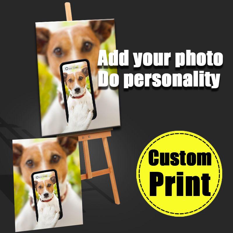 Votre Photo famille amis bébé ou Selfie Photo Image préférée impression personnalisée toile unique peinture décoration de la maison photos