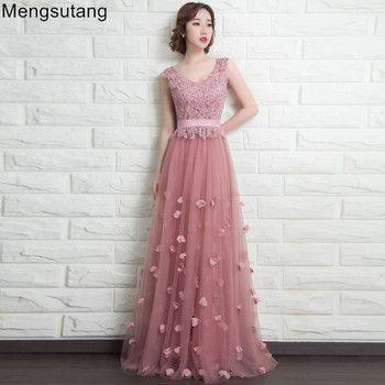Robe de soiree 2019 V-Neck sleeveless long Lace up cameo red lace evening dress lace vestido de festa party dress prom dresses