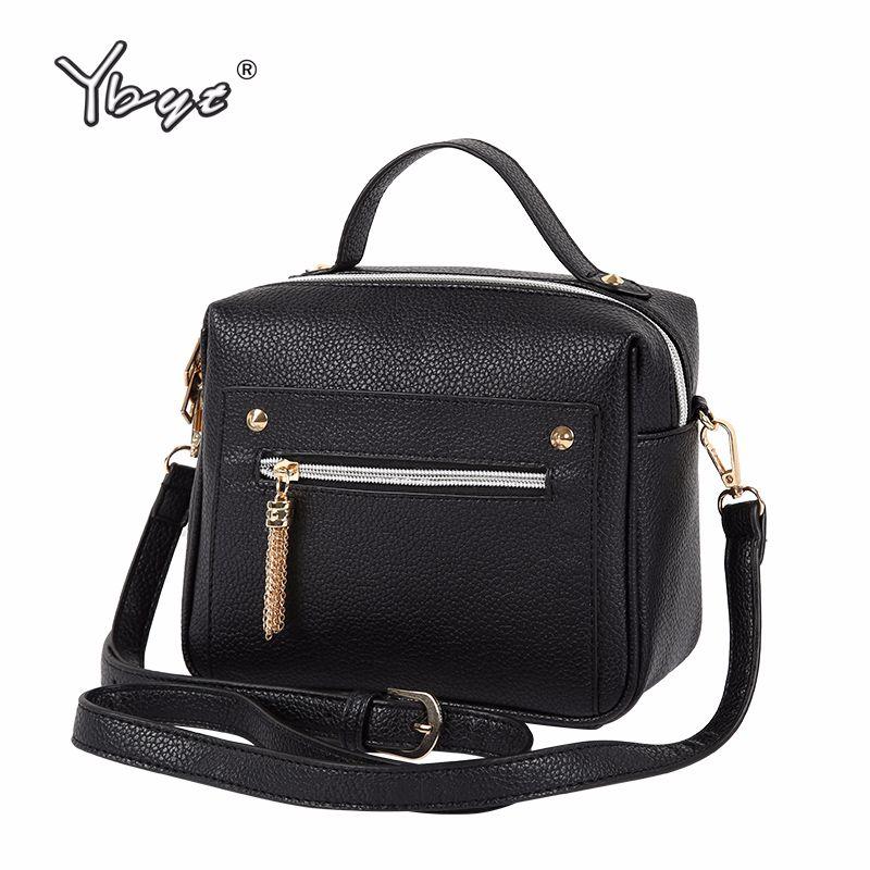 YBYT marque 2019 nouvelle décontracté PU cuir solide femmes sacs à main hotsale dames shopping bga épaule messenger sacs à bandoulière