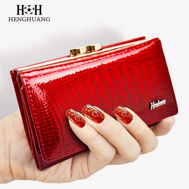 2017 Women Wallet Genuine Leather High Quality Hasp Coin Purse 100% Cowhide  Fashion Female Clutch Purses Card Holder Wallets